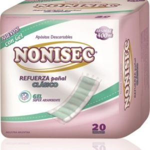 Nonisec Refuerza Pañal Clasico C/gel 6 Paq. X 20 Unid. (absorbe