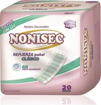 Nonisec Refuerza Pañal Clasico C/gel 6 Paq. X 20 Unid. (absorbe
