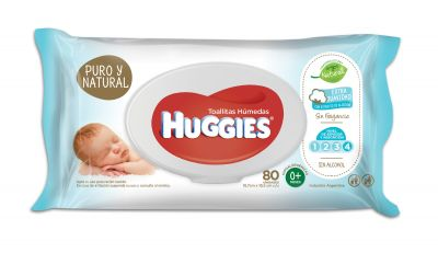 Toa Hum Huggies Puro Y Natural 12x80