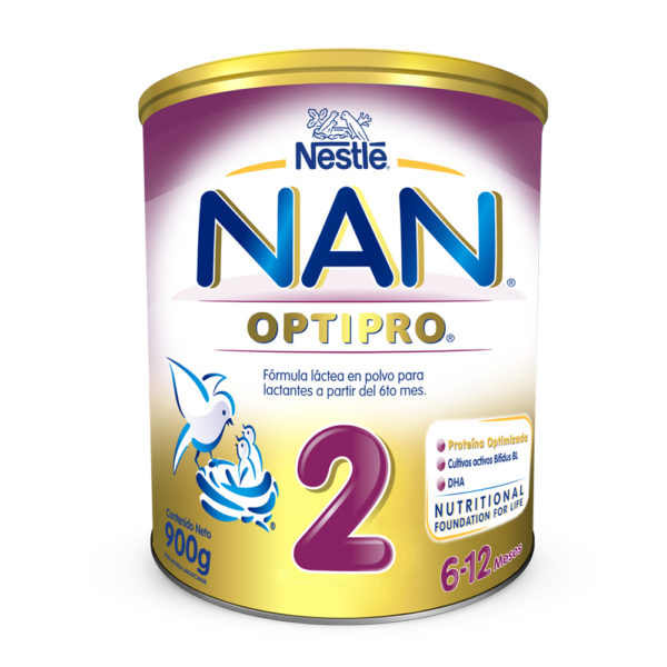 Nan 2 Optipro Formula Infantil 900 Grs.
