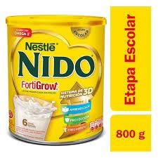 Nido Fortigrow 3d Lata 800 Grs.