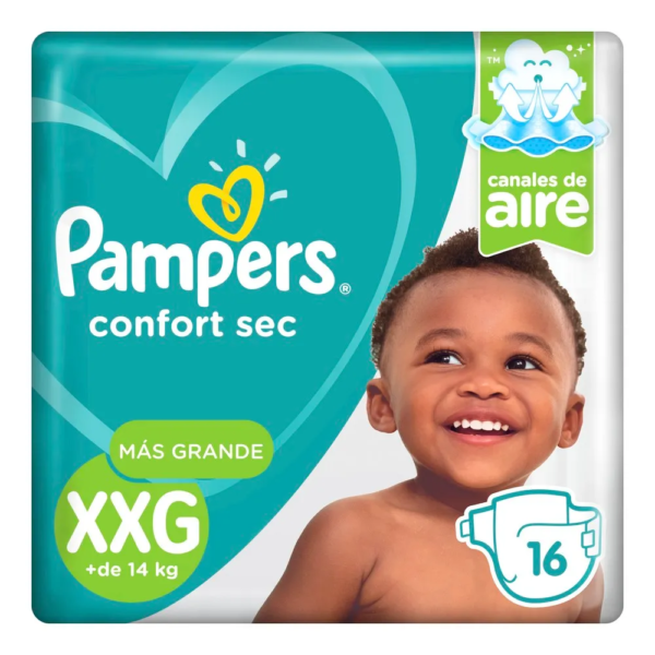 80314579 / 80316170 Pampers Confort Sec Xxg 16padsx08