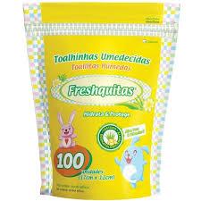 T.humedas Freshquitas Aloe Vera Y Vit E 24x100u Doy Pack Amarilla