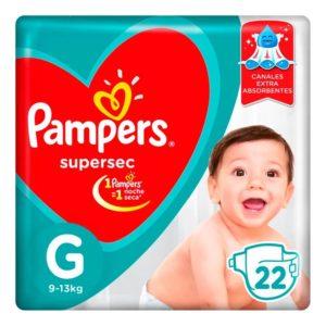 80316201 Pampers Supersec Gde 22padsx08 N