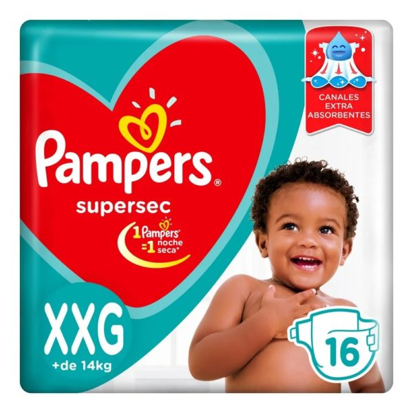 80316203 Pampers Supersec Xxg 16padsx08 N