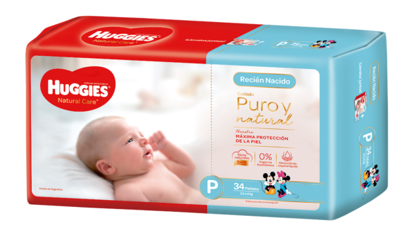Pañal Huggies Natural Care Px34