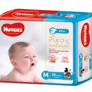 Pañal Huggies Natural Care Varon Mx26