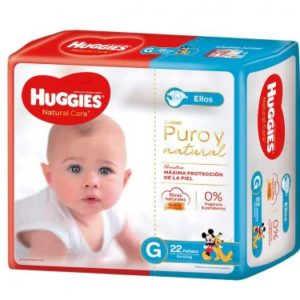 Pañal Huggies Natural Care Varon Gx22