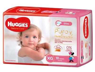 Pañal Huggies Natural Care Mujer Xgx18