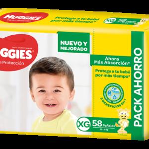 Pañal Huggies Triple Protección Xgx58