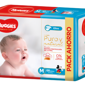 Pañal Huggies Natural Care Varon Mx68