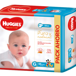 Pañal Huggies Natural Care Varon Gx68