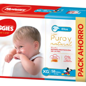 Pañal Huggies Natural Care Varon Xgx58