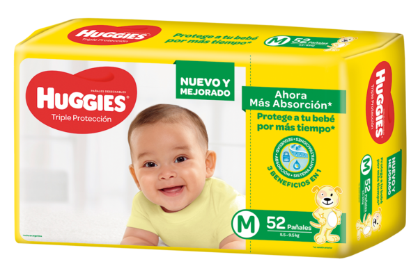 Pañal Huggies Triple Proteccion Mx52