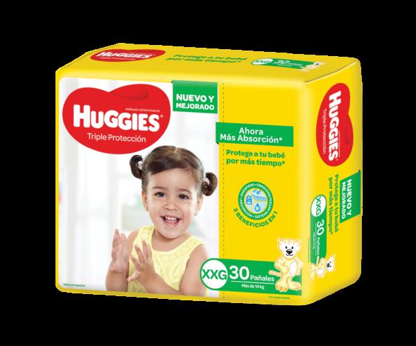 Pañal Huggies Triple Protec Xxgx30