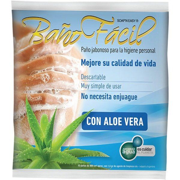 Baño Facil Aloe Vera, Pack X 10, Caja X 20