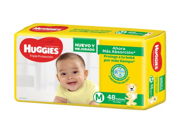 Pañal Huggies Triple Protec Mx48