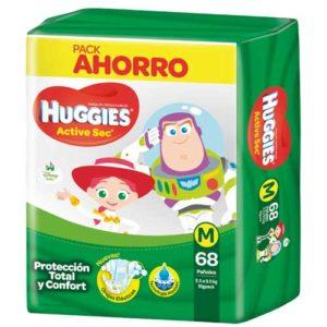 Pañ Hug Actsec M High Counts 2x68