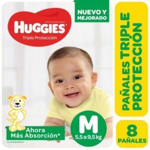 Pañal Huggies Triple Protec M12x8