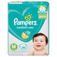 80316180 Pampers Confortsec Med 86padsx02 N