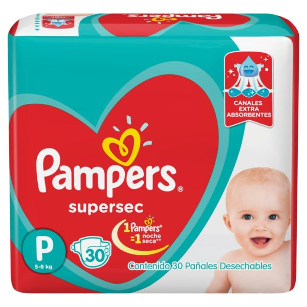 80316199 Pampers Supersec Peq 30padsx08 N