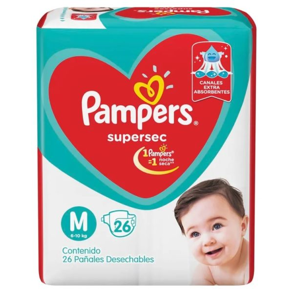 80316200 Pampers Supersec Med 26padsx08 N