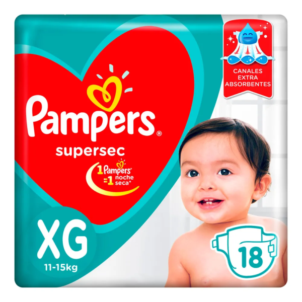 80316202 Pampers Supersec Xgd 18padsx08 N