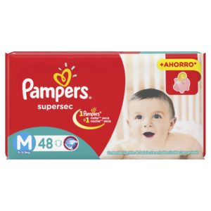 80316204 Pampers Supersec Med 48padsx4