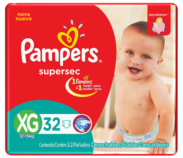 80316206 Pampers Supersec Xgde 32padsx4it