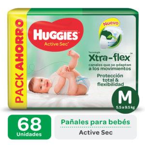 Pañ Hug Actsec M Highcount 2x68 Flex Nuevo