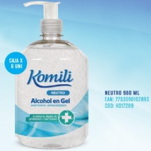 Komili Alcohol En Gel X 980 Ml