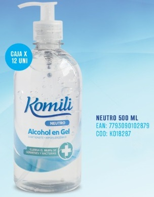 Komili Alcohol En Gel X 500 Ml