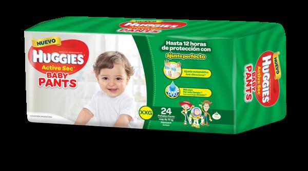 Pañal Huggies Active Sec Baby Pants Xxg X24