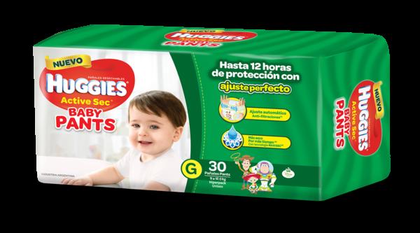 Pañal Huggies Active Sec Baby Pants G X30