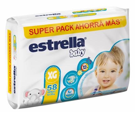 Estrella Pañal Super Pack Xg -2x68