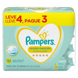 80332768 Pampers T/hum Recien Nacido 3x192