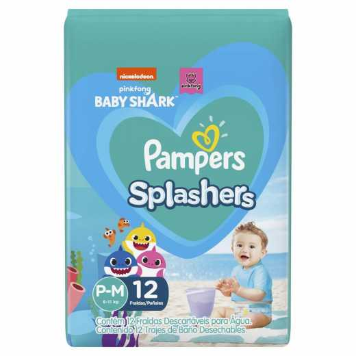 Pampers Splashers - Talle S - 12 Pañales