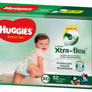 Pañal Huggies Active Sec Xg X52