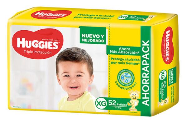 Pañal Huggies Triple Protección Xgx52