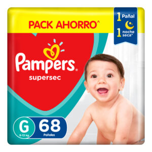80347399 Pampers Supersec Gde Max 68 X 2 N