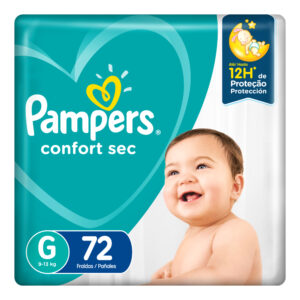 80348046 Pampers Confortsec Gde Max 72 X 2