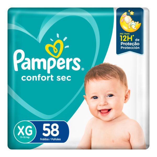 80349679 Pampers Confortsec Xgd Max 58 X 2