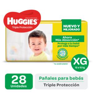 Pañal Huggies Triple Protección Xgx28