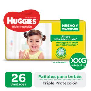 Pañal Huggies Triple Protección Xxgx26