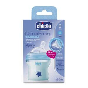 Chicco Naturalfeeling Color Celeste 0m 150ml