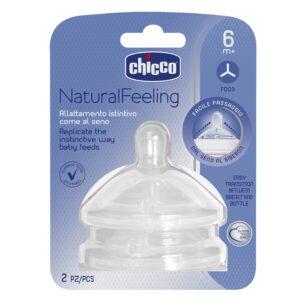 8058664008261 Chicco Tetinas Naturalfeeling 6m+ Flujo Pappa X2