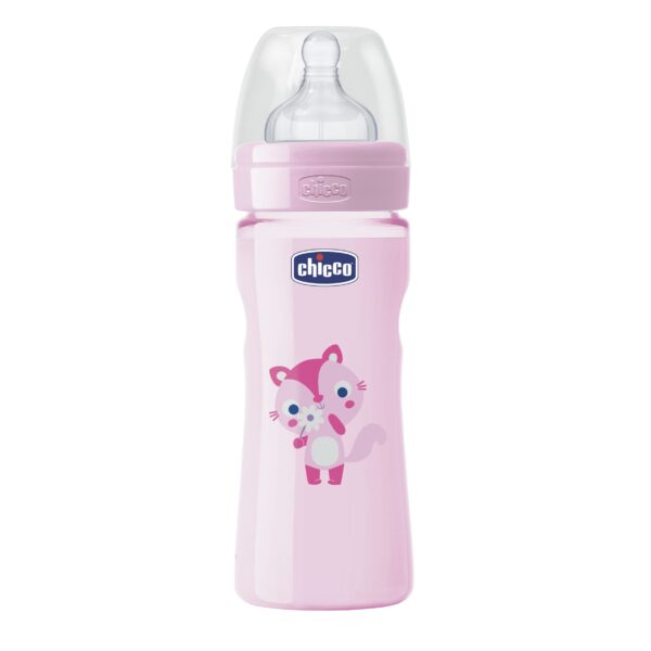 8058664066957 Chicco Biberon Wb Col Pp Girl 250ml Flujo Medio