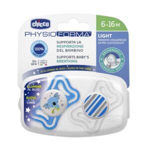 8058664097258 Chicco Nocturnos Physio Light Lumi 6-16m Sil 2p C