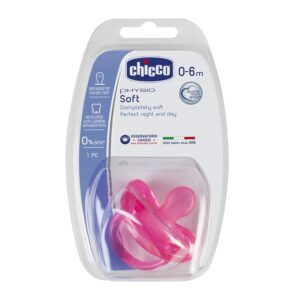 Chicco Silicona Physio Soft Sil 0-6m Pink