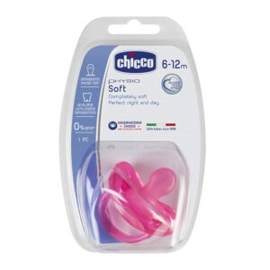 Chicco Silicona Physio Soft Sil 6-12/16m Pink